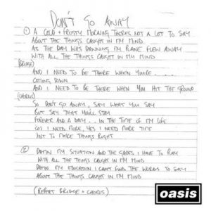 Don't Go Away (Mustique Demo) – Oasis [320kbps]